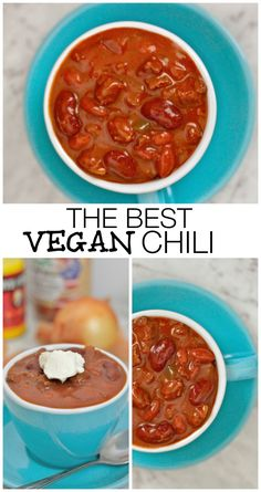 The absolute BEST Chili recipe hands down- Chock full of red kidney beans, a rich tomato sauce and secret spices- Completely Vegan, gluten free and vegetarian! Low calorie and high protein without any meat!