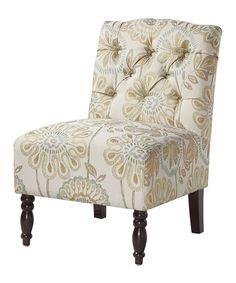 Love this Leia Tufted Armless Chair on #zulily! #zulilyfinds