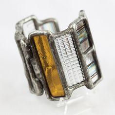 Etta Kostick Wide Stained Glass Bracelet