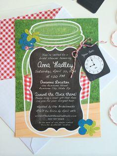 Around The Clock Invitation with Mason Jar by BauerStudiosDesign, $20.00