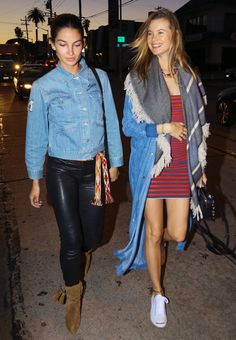 Behati Prinsloo and Lily Aldridge are making a girls' night out look better than ever.