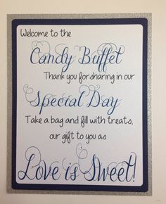 Welcome Candy Buffet Sign by SweetLoveCandy on Etsy, $10.50