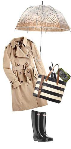 17 Rainy Polyvore Combinations - Fashion Diva Design- I want Hunter boots...too cute