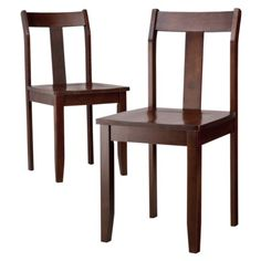 $109.99  Dining Chairs - Set of 2 - Dark Tobacco  (I think this color would work, but you can't tell with wood until you seem them next to each other)