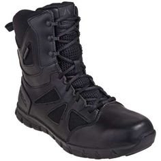 5acf81f92430 Reebok Boots  Sublite Waterproof Men s Black RB8806 EH 8-Inch Tactical  Boots. Steel ToeWaterproof BootsDesigner BootsCushionsReebokFootwearCombat  ...