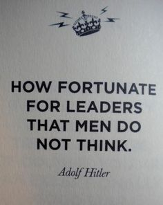Oh so true.... Hitler may have been one of the most maniacal and infamous figures in history, but we still need to learn from the dictatorship he created to prevent inadvertently creating one of our own in America!
