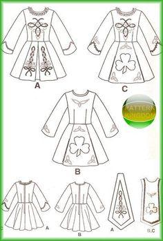 Simplicity 9654 Misses Irish Solo Dance Dress Patterns