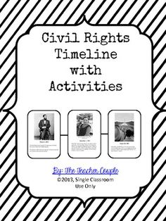 Students create a trifold brochure about a Civil Rights