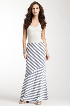love this :) Loveappella Angled Maxi Skirt