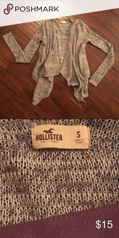 Hollister grey sweater Cute and lightly used open knit sweater Hollister Sweaters