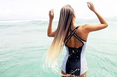 Alana Blanchard in the Gold Coast of Australia wearing Rip Curl's Women's G-Bomb Spring Cross Back. Photo by: @trentmitchellphoto