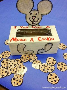 if you give a mouse a cookie activities Speech Therapy Activities, Speech Language Therapy, Language Activities, Speech And Language, Toddler Activities, Learning Activities, Time Activities, Teaching Ideas, Preschool Literacy
