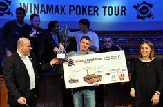 #WiPT - Philippe Pertuisot, vainqueur du Main Event du #Winamax Poker Tour. En plus du titre, il repart avec un joli chèque de 100 000€ !