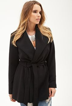 Belted Shawl Collar Coat | FOREVER21 PLUS - 2055878371 (want both colors once the price goes down)