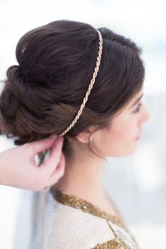 3 NYE Parties, 3 Rad DIY 'Dos To Match #refinery29  http://www.refinery29.com/new-years-eve-hairstyles#slide30  At this point, you have the option to add a headband or a necklace (like this one from Forever 21) to jazz up your look.