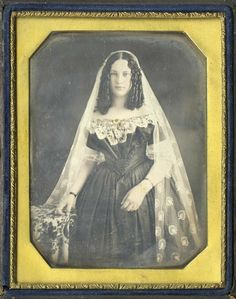 Portrait of a beautiful bride, ca. ---- People in the Earliest Photography: 39 Rare Portrait Pictures Taken From the ~ vintage everyday Victorian Photography, Old Photography, People Photography, Digital Photography, Culture Art, Victorian Photos, Victorian Women, Antique Photos, Victorian Era