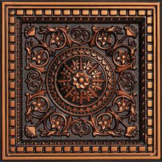 Da Vinci - Faux Tin Ceiling Tile - Drop in - 24 in x 24 in - : 215 Coffered Ceiling Tile is made out of PVC and can be dropped into any standard grid system. It comes in antique copper, antique silver, antique gold and other finishes. Faux Tin Ceiling Tiles, Tin Tiles, Tile Steps, Ceiling Panels, Tile Installation, Style Tile, Color Tile, Antique Copper, Photoshop