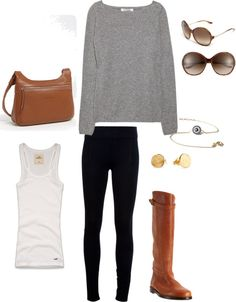 """""""Casual Fall Outfit"""" by depthless on Polyvore"""