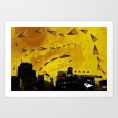airplanes and cigarettes Art Print by Trevor Bittinger - $15.00