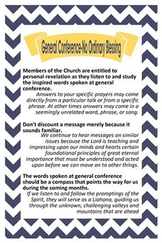 General Conference—No Ordinary Blessing