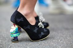 Some intriguing footwear spotted at #MFW WGSN street shot, Milan Fashion Week, spring/summer 2014