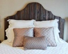 How to turn an old door into a new recycled DIY bed headboard, and also give new life to the old door? #DIY #bedroom #recycle #naturessleep