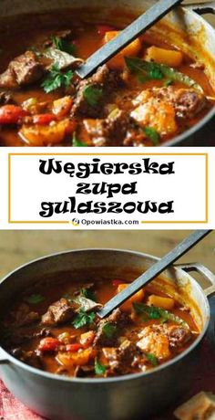 Beef Recipes, Soup Recipes, Cooking Recipes, Healthy Recipes, Ga In, Hungarian Recipes, Food Design, My Favorite Food, Food Videos