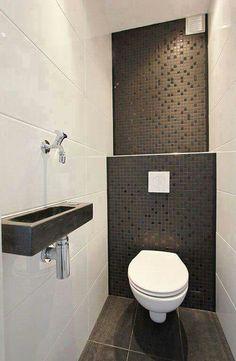 Modern toilet design photos modern toilet design decor units home Small Toilet Room, Guest Toilet, Downstairs Toilet, Toilet Wall, Bathroom Toilets, Laundry In Bathroom, Shower Bathroom, Master Bathroom, 1950s Bathroom