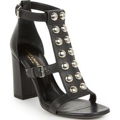 Saint Laurent Babies Studded Leather Sandals as seen on Demi Lovato