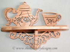 """SLD132 - """"Teatime"""" Fretwork Curio Shelf"""