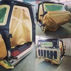 Chevrolet C10 truck cab ready for some primer and then on with the gold interior colour #chevrolet #chevy #c10 #c10truck #bodyworklaunceston #restoration #bodywork #rhm #rhmotorsport #rhmbodyshop