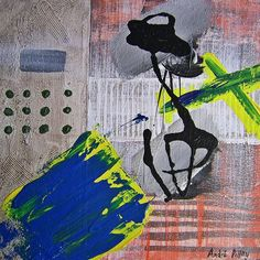 MAGIC PATH 1 by André Pillay - expressive abstract painting.  #art