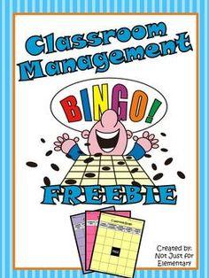 CLASSROOM MANAGEMENT BINGO {FREEBIE} - TeachersPayTeachers.com