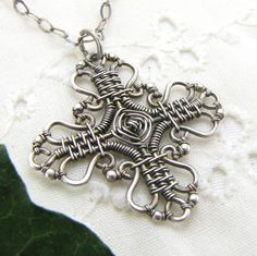 Wire Wrapped Cross
