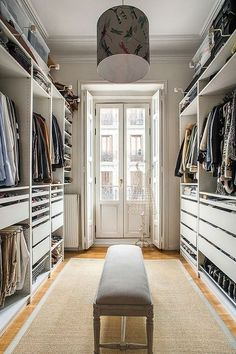 53 Elegant Closet Design Ideas For Your Home. Unique closet design ideas will definitely help you utilize your closet space appropriately. An ideal closet design is probably the only avenue . Walk In Closet Design, Bedroom Closet Design, Master Bedroom Closet, Woman Bedroom, Wardrobe Design, Closet Designs, Master Suite, Walk In Closet Ikea, Shoe Closet