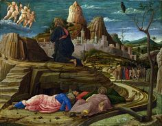 The Agony in the Garden Andrea Mantegna Italian c. Renaissance Tempera on wood National Gallery, London Tempera, Framed Art Prints, Painting Prints, Watercolor Paintings, Sculpture Romaine, Andrea Mantegna, Agony In The Garden, Renaissance Kunst, National Gallery