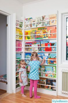 Bookshelf for the twins