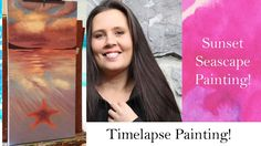 Timelapse Pink Sunset Seascape Painting - time lapse video - time lapse ...