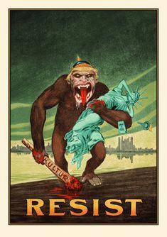 Movie Posters : David M. Brinley Resist Art Print Release By Neon Eye &
