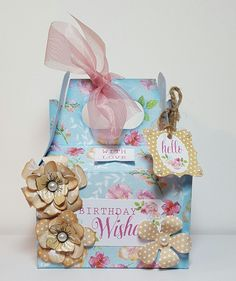Designed by Jennifer Kray for Craftwork Cards using Boutique Floral Gift Boxes.