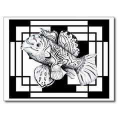ZNDC Studio's Mandarin Fish Postcard