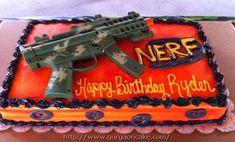 nerf gun birthday party cake