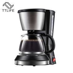 TTLIFE Fully-Automatic Coffee Machine Household Drip Coffee Maker Commercial Coffee Pot American Coffe Machines