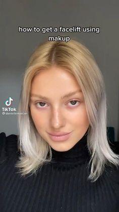 Contour Makeup, Skin Makeup, How To Face Makeup, How To Contour Your Face, Makeup Tips, Beauty Makeup, Natural Makeup Tutorials, Makeup Hacks Videos, Makeup Stuff