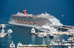 The Carnival Breeze sails in to Monte Carlo.