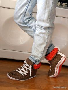Adult Crochet Converse Boots Women by SneappersStudio on Etsy