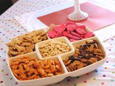 Baby snacks at birthday party