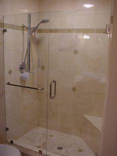 Inline Frameless Shower Door provided by Super Glass Campbell 95008