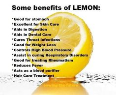 Lemon and its benefits  I certainly love lemons. Especially Lemon Water in the morning, agree?