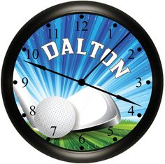 Golf / Golfer Clock The Perfect Addition To His Man Cave / Office Or Any Area. Birthday Or Father's Day Gift Idea For the Golfer.By Simply Southern Gift.